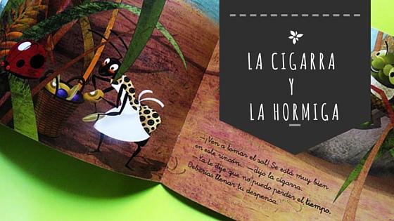 ilustraciones cigarra y la hormiga