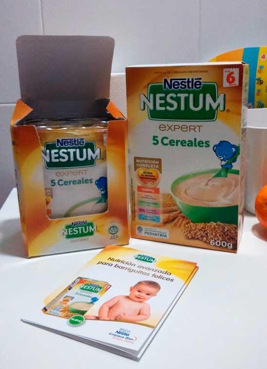 Nestum 5 cereales, nutrición avanzada para barriguitas felices
