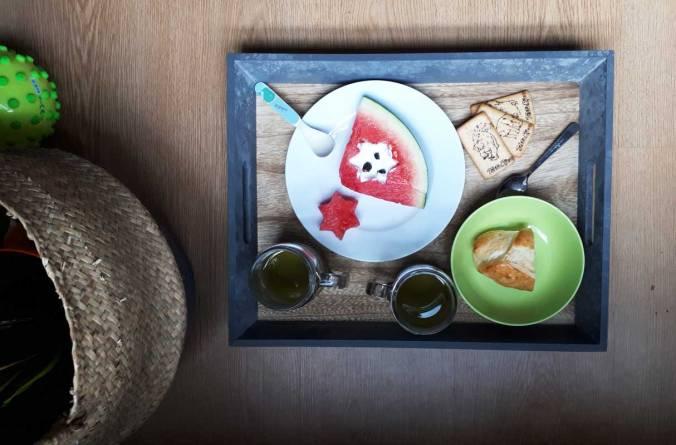 desayuno-verano2018 sandia estrella mispiesgriegos
