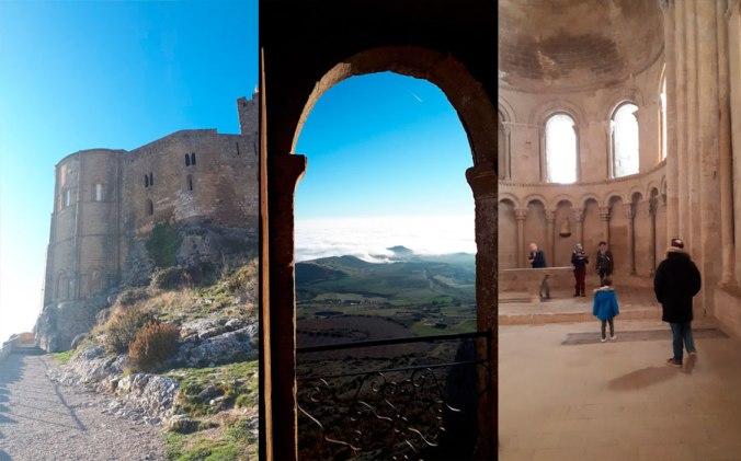 las vistas a la hoya de huesca y el castillo maravillosos